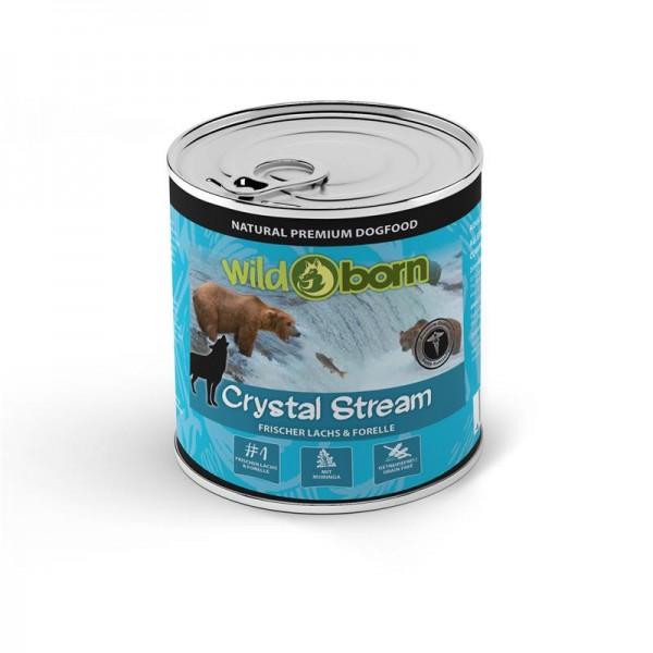 """Wildborn Crystal Stream mit frischem Lachs & Forellen, Brombeeren, Cranberries und Moringa Olifera """""""