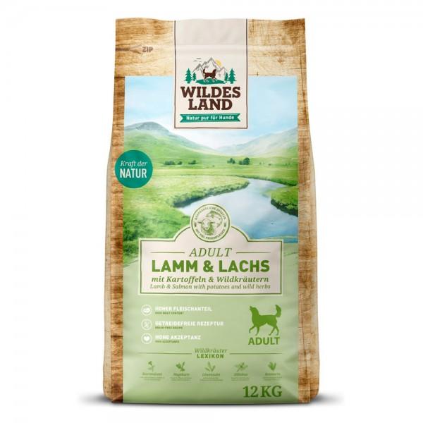 Lamm & Lachs mit Kartoffeln & Wildkräutern