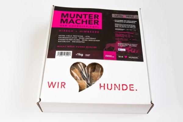 náttúra Muntermacher/Energieriegel mit Hirsch und Himbeere