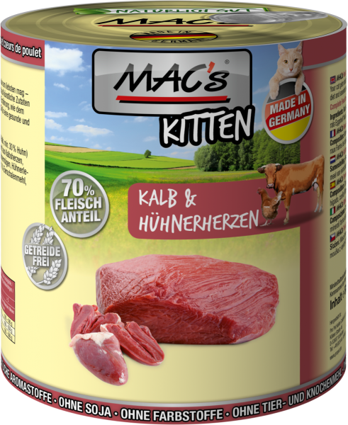MAC's Kitten Kalb & Hühnerherzen 6er Paket