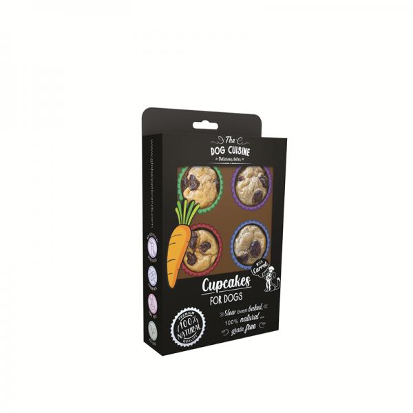 The Dog Cuisine - Cupcakes for DOGS mit Karotten - Natürliche Hundesnacks, Grain Free