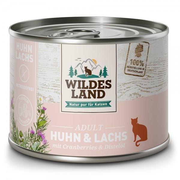 Huhn & Lachs mit Cranberries und Distelöl