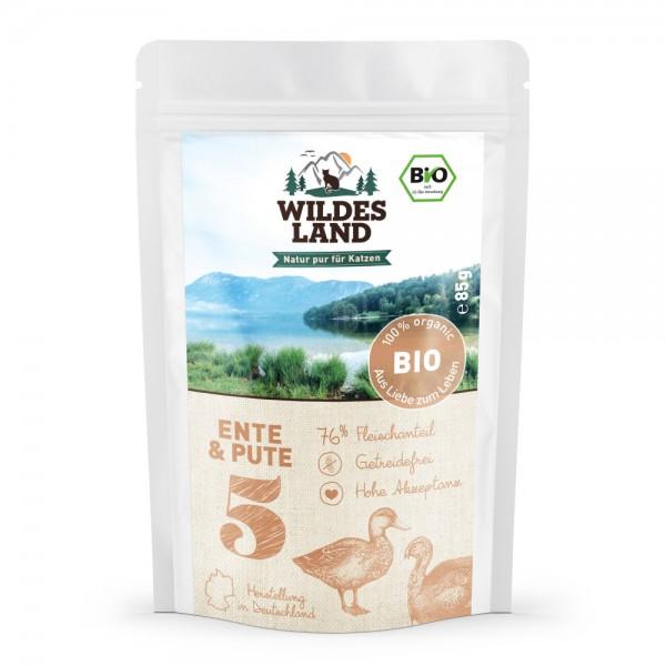 No 5 Bio Ente und Pute mit Cranberries & Lachsöl