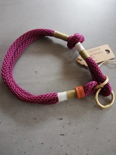 2-farbig getakeltes Schlupfhalsband lila-gold
