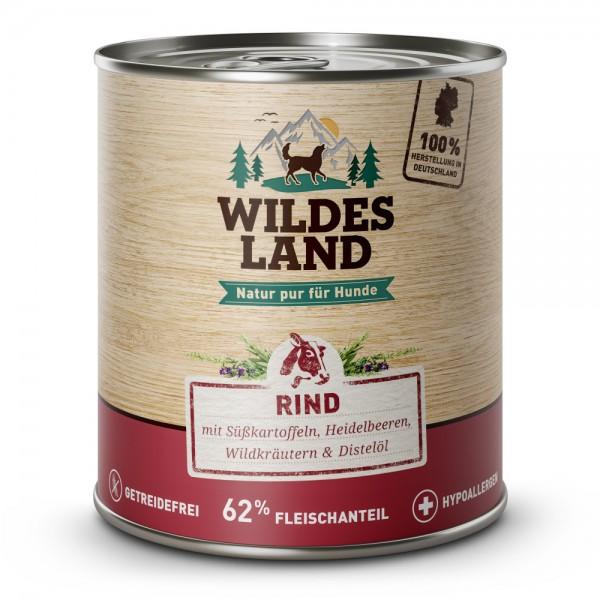 Rind mit Süßkartoffeln, Heidelbeeren, Wildkräutern & Distelöl