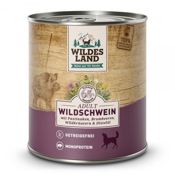 Wildschwein mit Pastinake, Brombeeren, Wildkräutern und Distelöl