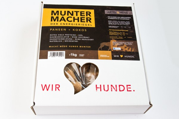 náttúra Muntermacher/Energieriegel mit Pansen und Kokos