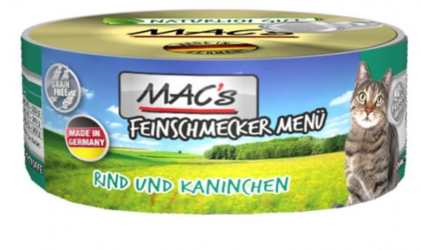 MAC's Cat Feinschmecker Rind, Kaninchen 6x100g