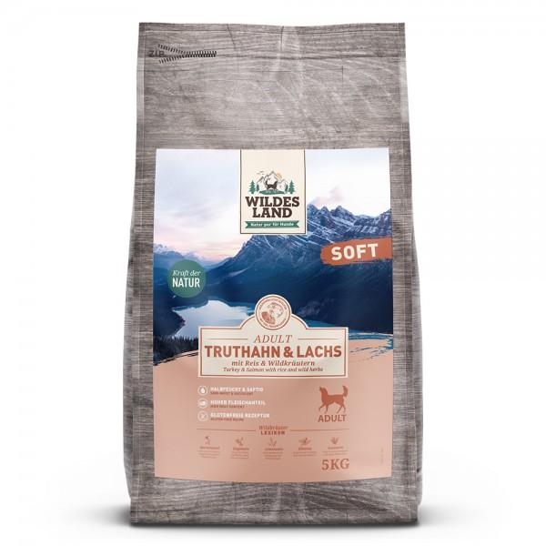 Soft Truthahn & Lachs mit Reis & Wildkräutern