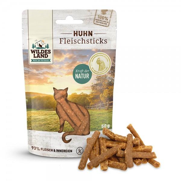 Wildes Land - Fleischsticks Huhn - Leckerli für Katzen